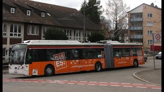 preview picture of video 'Esslingen Trolleybus Network - Route 118'
