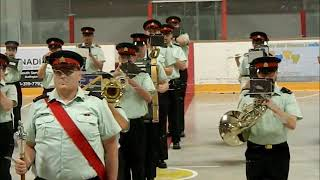 Cadets Annual Inspection Review with RHLI Band