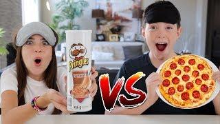 PRINGLES vs REAL FOOD CHALLENGE!!