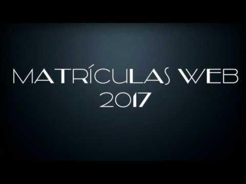 Proceso matrículas web - 2017