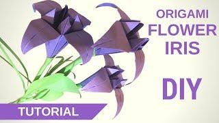 Из бумаги. DIY Мастер класс Как сделать оригами цветы ИРИСЫ из бумаги своими руками #ПоделкиЦветы  Всем привет! Вы на канале Handmade! В этом мастер классе я покажу как сделать diy оригами цветы ирисы из бумаги своими руками! Это не