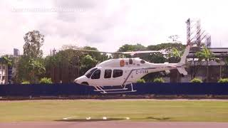 PNP's P435-M Bell helicopter takes off