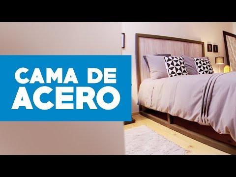 ¿Cómo hacer una cama de acero?