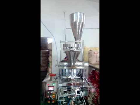 Automatic Pouch Packing FFS Collar Type With Cup Filler for tea, kurkure namkeen