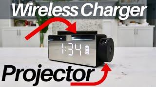 Best Wireless Charger Bluetooth Speaker Clock Projector - Coolest Tech !