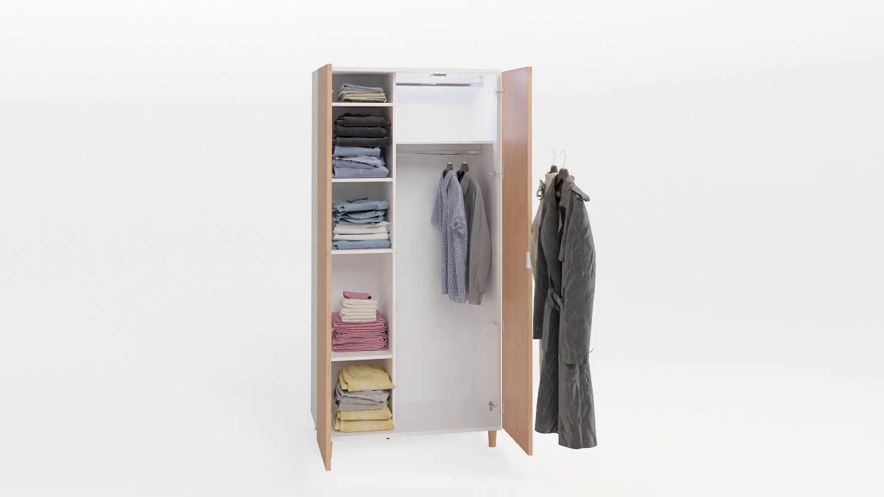 Simple 2 Door Wardrobe
