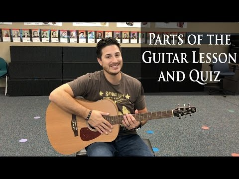 Parts of the Guitar Lesson and Quiz for Beginning Guitar