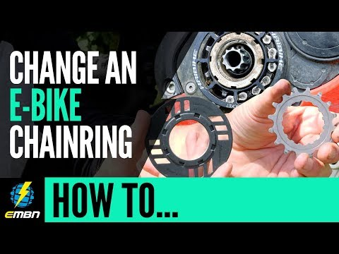 Change An E-Mountain Bike Chainring On A Bosch Motor | EMBN How To