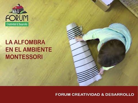 La alfombra en el ambiente Montessori