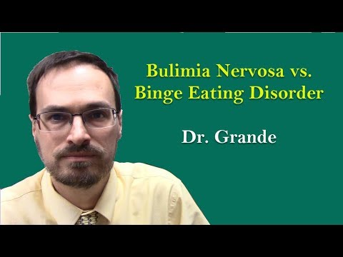 What is the difference Bulimia Nervosa and Binge Eating Disorder?