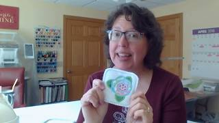 Step By Step Machine Embroidery In The Hoop And Applique Flower Coaster
