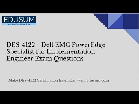 DES-4122 - Dell EMC PowerEdge Specialist for Implementation ...