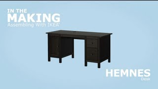 IKEA HEMNES Desk Assembly Instructions