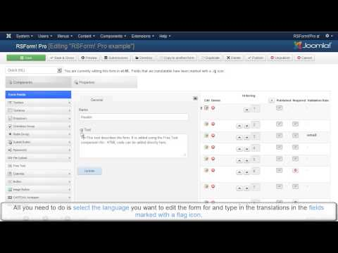 Ep. 52: How to translate a Joomla! form  using the RSForm!Pro multi-language option
