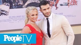 Britney Spears And Sam Asghari Make First Premiere Appearance As A Couple | PeopleTV