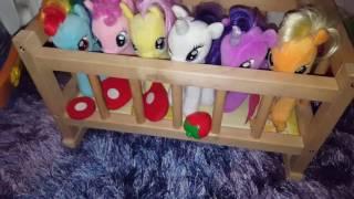 My little pony хотят спать. Поняшки просят кушать.