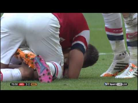 All of Arsenal's goals vs Hull City - FA Cup final (Arsenal 3-2 Hull) (English Commentary)