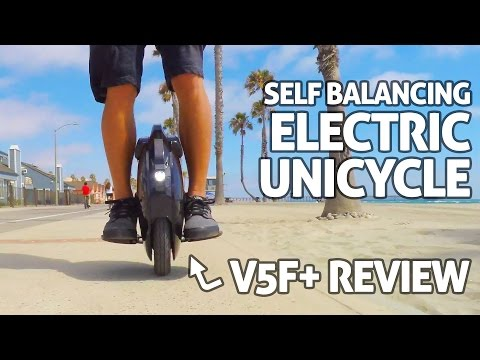 V5F+ Electric Unicycle! REVIEW – Self Balancing 'One Wheel Hoverboard'