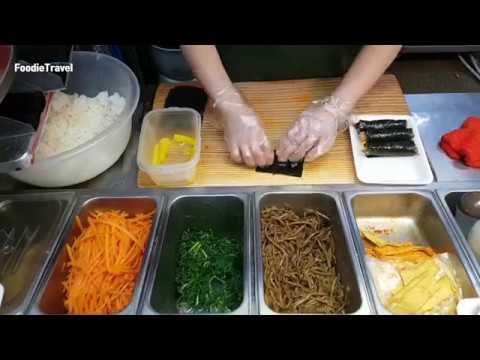 한개 500원!! 매운 불오뎅 꼬마김밥   Mini Spicy Oden Gimbap   한국 길거리음식   korean Street Food   Korea gimbap recipe