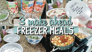 EASY MAKE AHEAD FREEZER MEALS | PREP WITH ME | DINNERTIME FAMILY FAVORITES