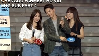 [ENG SUB] Song Joong Ki & Song Hye Kyo in Chengdu Part 4 (depend on her as a partner!?)