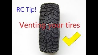 RC Tip: Venting Your Tires (keep Water And Dirt Out!)