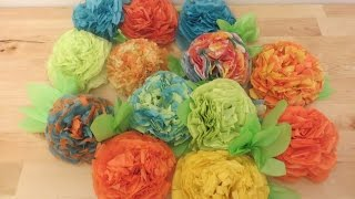 Retro Crafts: Fun and Easy DIY Tissue Paper Flowers #tbt