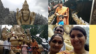 Trip to Kempfort Shiva Temple, Bangalore in telugu #Travelvlog #Biggest shiva statue
