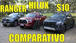 Chevrolet S10 x Toyota Hilux x Ford Ranger-Parte1