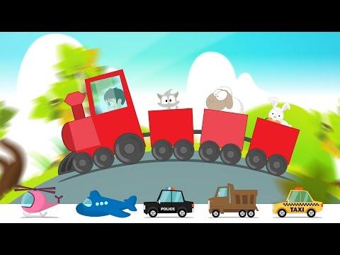Learn Colors with Street Vehicles in Arabic for Kids - تعليم الألوان مع وسائل النقل للاطفال