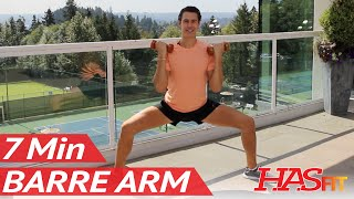7 Min Toning Barre Arm Workout at Home w/ Beauty and The Fit - Pure Barre Method Workout for Arms by HASfit