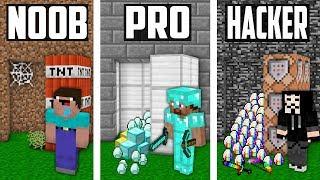 Minecraft Noob vs Pro vs Hacker : SECRET VAULT in Minecraft Funny Animation