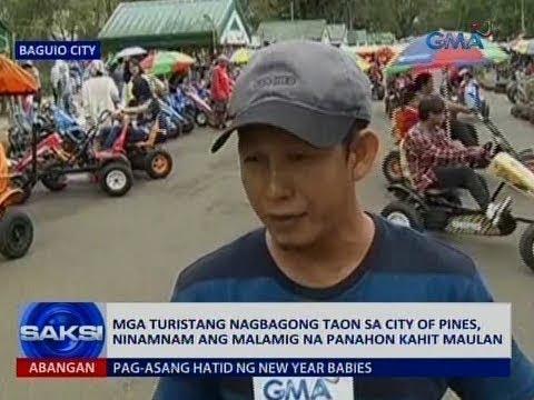 Saksi: Mga turistang nagbagong taon sa City of Pines, sinulit ang malamig na panahon kahit maulan