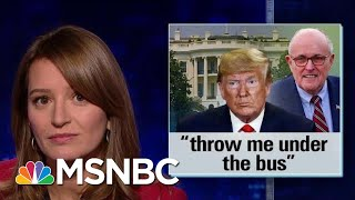 Trump Throws Rudy Giuliani Under The Bus With New Ukraine Comments | The Last Word | MSNBC