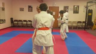 Light Sparring at the dojo