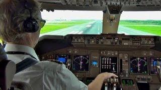 Смотреть онлайн Как происходит взлет самолета