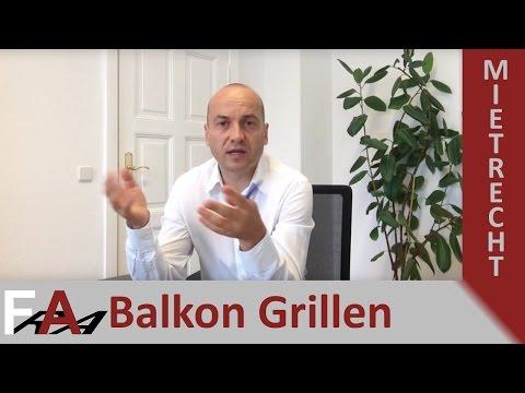 Grillen auf dem Balkon - Was dürfen Mieter? | Fachanwalt Alexander Bredereck
