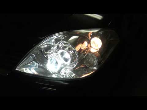 Nissan Primera P12 HELLA 3R + DRL PHILIPS видео
