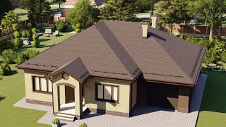 Проект дома 159-D, Площадь дома: 159 м2, Размер дома:  15,7x14,2 м