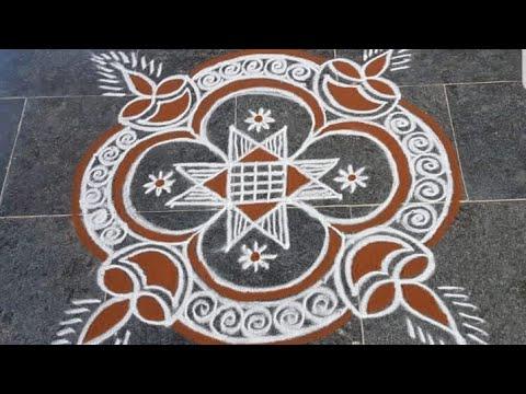 easy muggulu rangoli design
