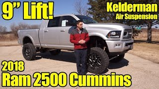 Lifted 2018 Ram 2500 Mega Cab Cummins with Kelderman Air Suspension! Detailed Walkaround!