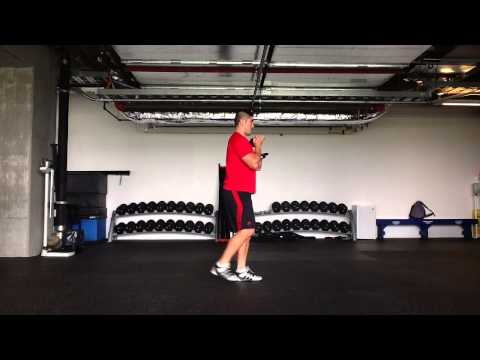 Dumbbell Goblet Back Step Lunge