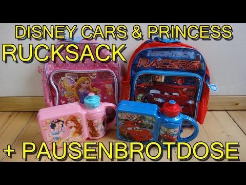 """""""DISNEY CARS & PRINCESS RUCKSACK + BROTDOSE / TRINKFLASCHE"""" -Vorstellung"""
