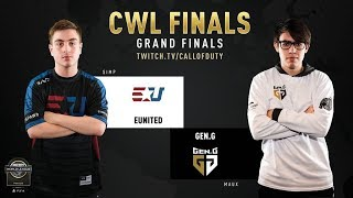 eUnited vs Gen.G | CWL Finals 2019 | Day 3