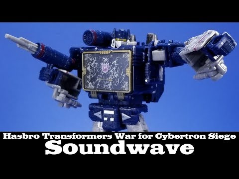 Transformers Siege Soundwave Hasbro Voyager War for Cybertron Action Figure Review