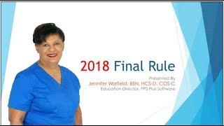 Home Health Final Rule 2018