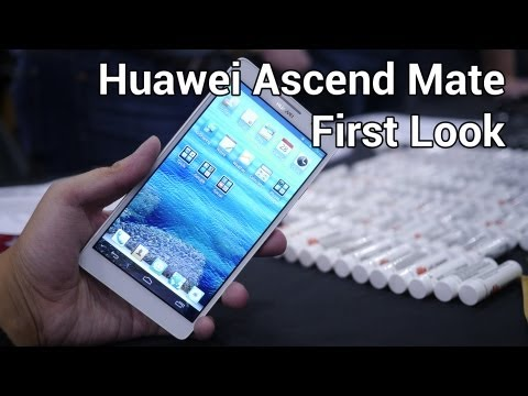 Huawei Ascend Mate First Look from CES 2013!