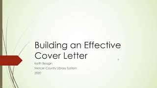 Build an Effective Cover Letter with Keith