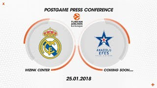 PRESS CONFERENCE REAL MADRID - ANADOLU EFES