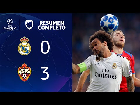 Real Madrid 0-3 CSKA – GOLES Y RESUMEN - Grupo G - UEFA Champions League